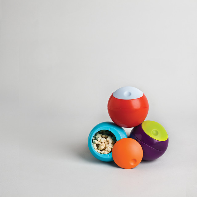 Caserola sfera Snack Ball, Green/Purple de la boon