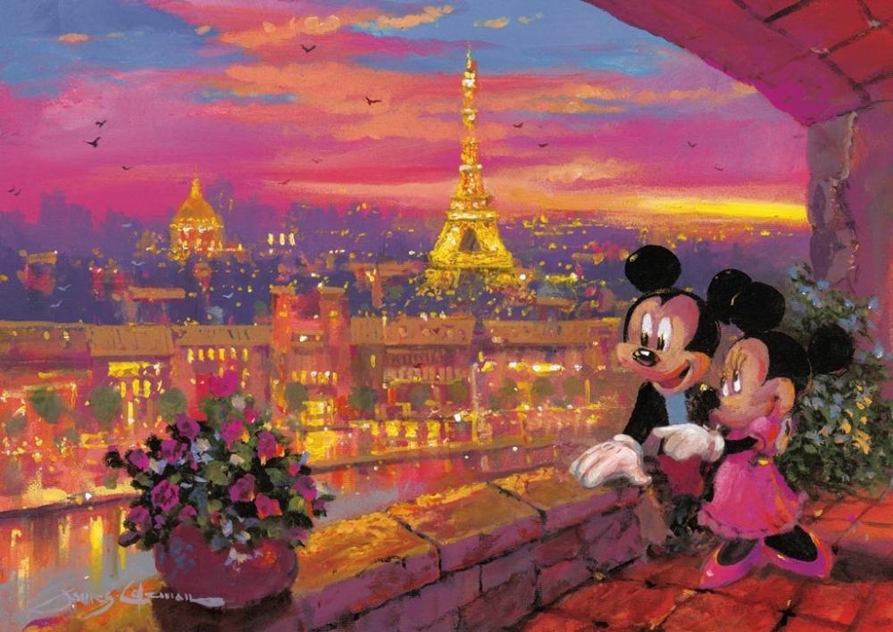 Puzzle Disney apusul la Paris, 1000pcs