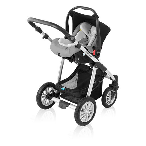 Carucior Multifunctional 2 in 1 Lupo Comfort 10 Black 2016 de la Baby Design