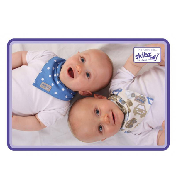Baveta/Esarfa bebe Doublez Cars/Blue Spot