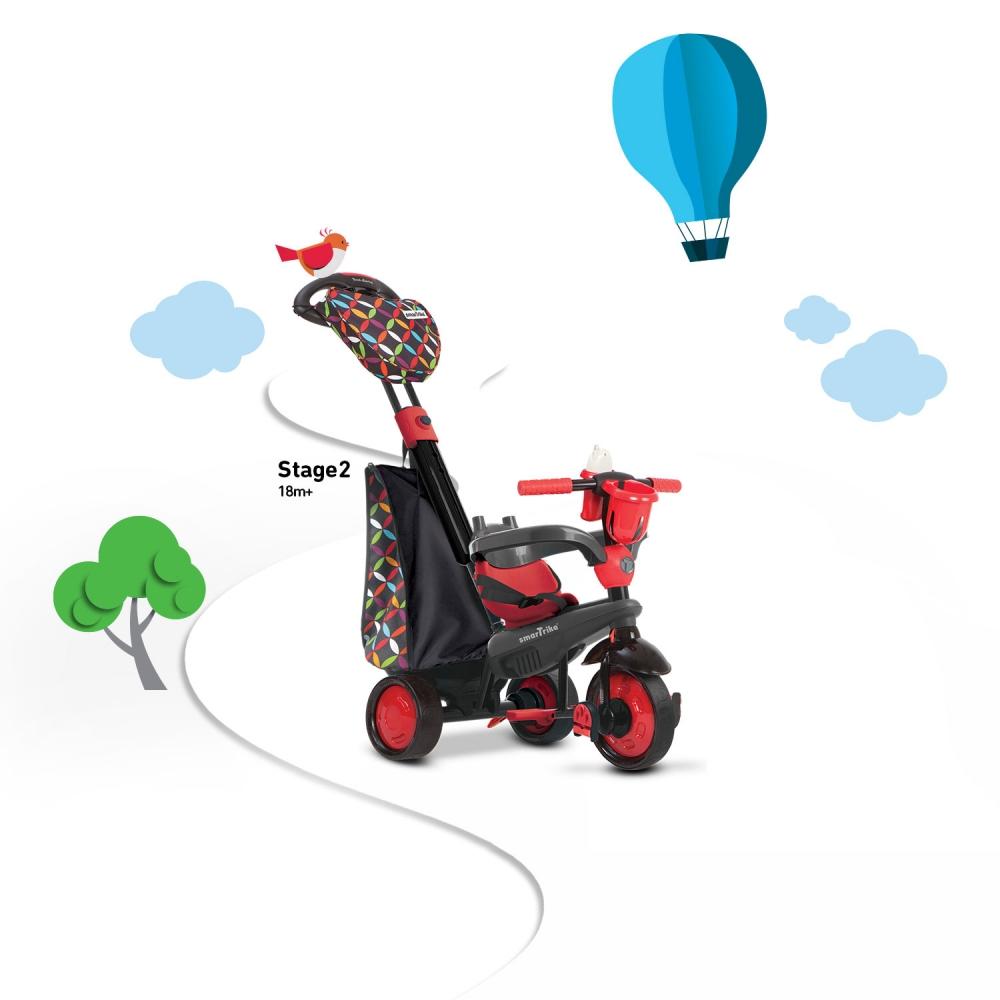 Tricicleta Smart Trike Boutique Red