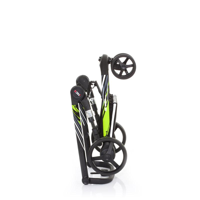Carucior 3 Tec PLUS Lime (model sport cu spatar la orizontala)