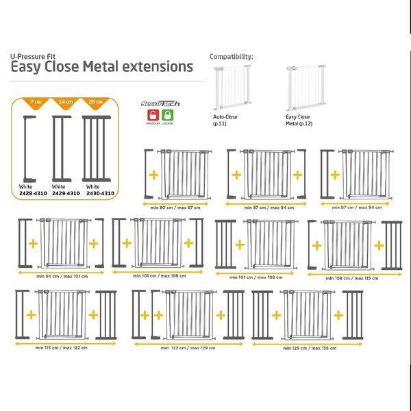 Extensie 7cm poarta Easy Close Metal