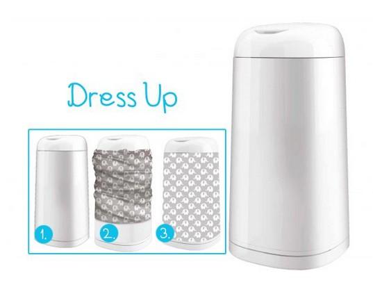 Cos ermetic pentru scutece Dress UP + Cadou Husa pentru cos