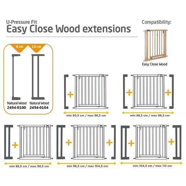 Extensie 8cm poarta Easy Close Wood