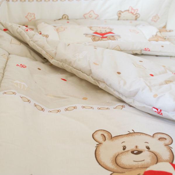 Lenjerie MyKids Teddy Toys Maro 4+1 Piese 140x70