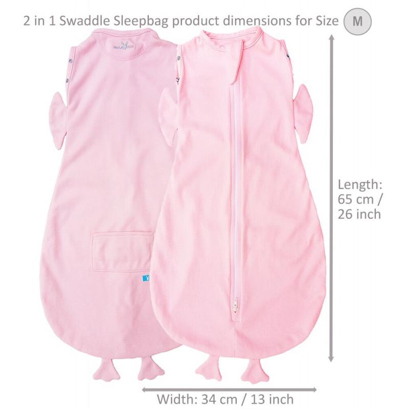 Sac de dormit Fun Animal 2in1 chicky pink -0-3 luni