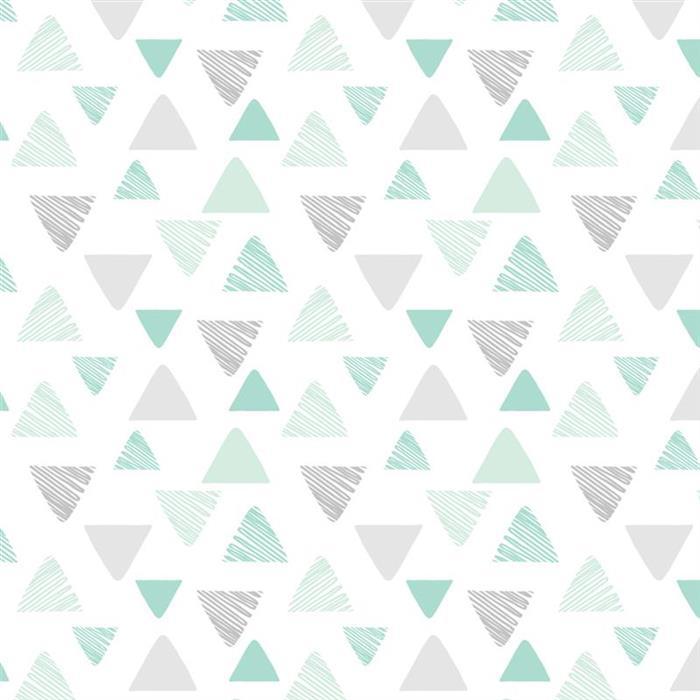Set 3 paturici de muselina imprimeu Triunghi si Stelute