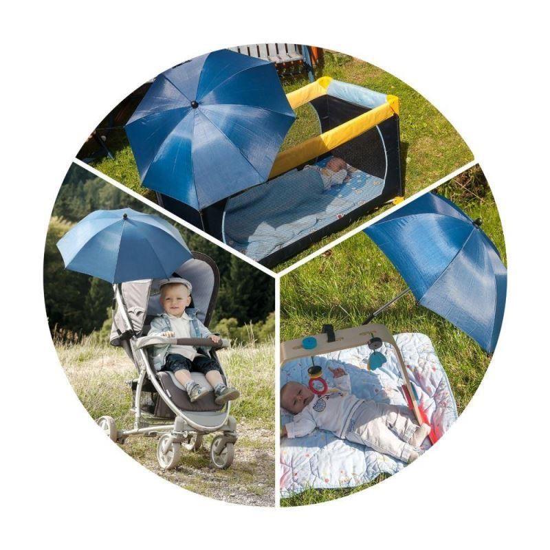 ShineSafe - Umbreluta solara cu protectie impotriva radiatiilor UV 50+, gri